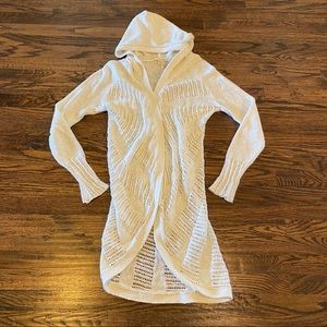 Moth Anthropologie Hooded Cardigan Knitted Sweater